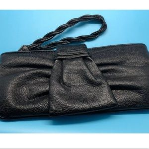 Express Black Faux leather clutch purse wristlet